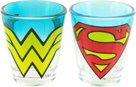 Justice League Logo Tint Shot Glass Set