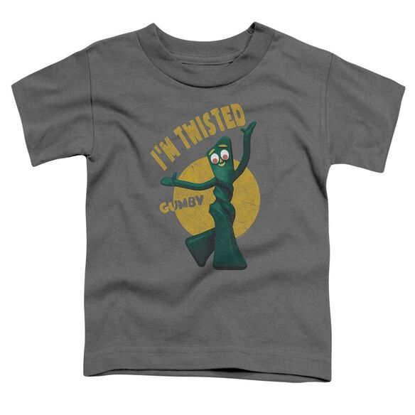 Gumby Twisted Short Sleeve Toddler Tee Charcoal Md T-Shirt