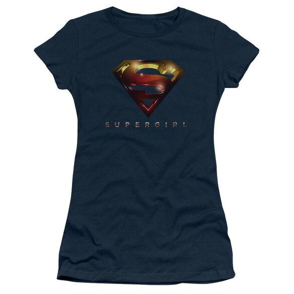 Supergirl Logo Glare Short Sleeve Junior Sheer T-Shirt