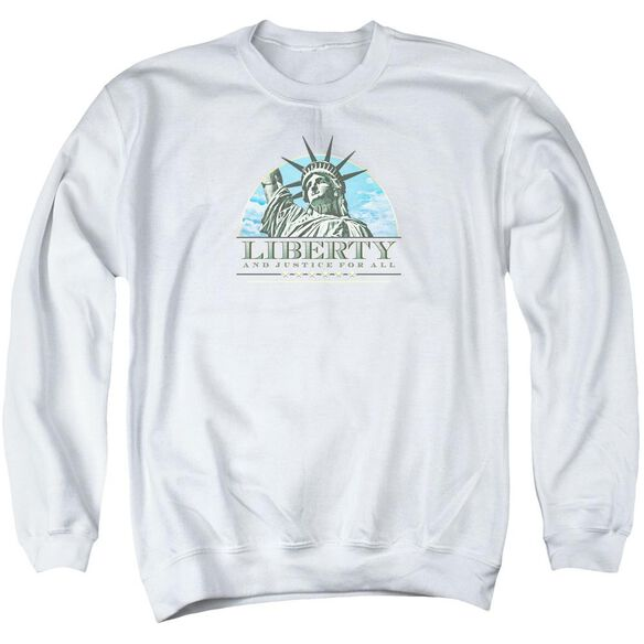 Liberty And Justice Adult Crewneck Sweatshirt