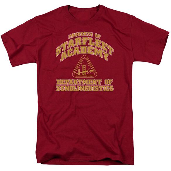 Star Trek Xenolinguistics Short Sleeve Adult Cardinal T-Shirt