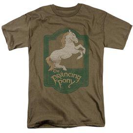 Lor Prancing Pony Sign Short Sleeve Adult Safari Green T-Shirt