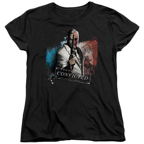 ARKHAM CITY TWO FACE - S/S WOMENS TEE - BLACK T-Shirt