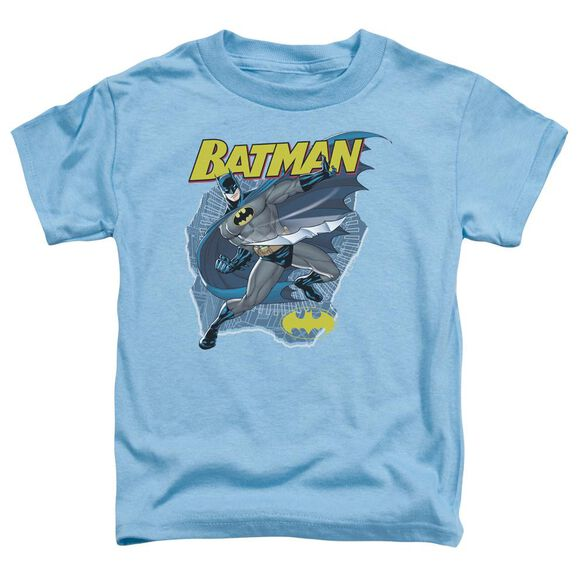 Batman Taste The Metal Short Sleeve Toddler Tee Carolina Blue Sm T-Shirt