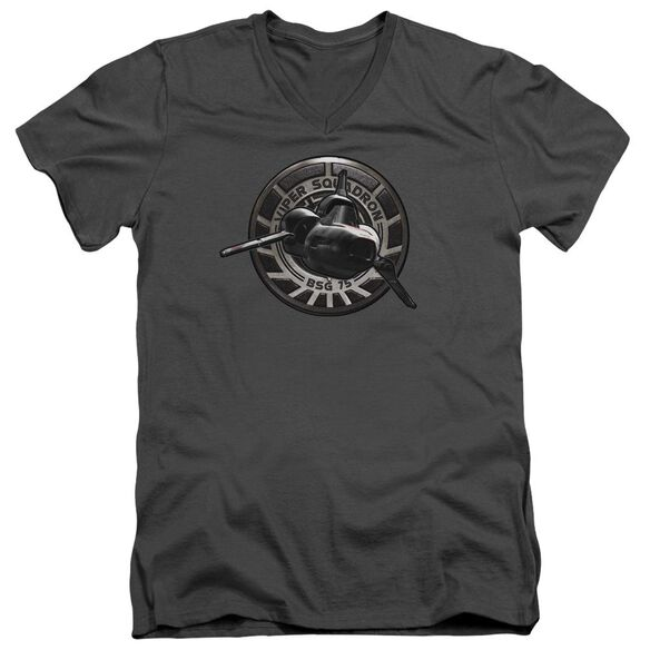 Bsg Viper Squadron Short Sleeve Adult V Neck T-Shirt