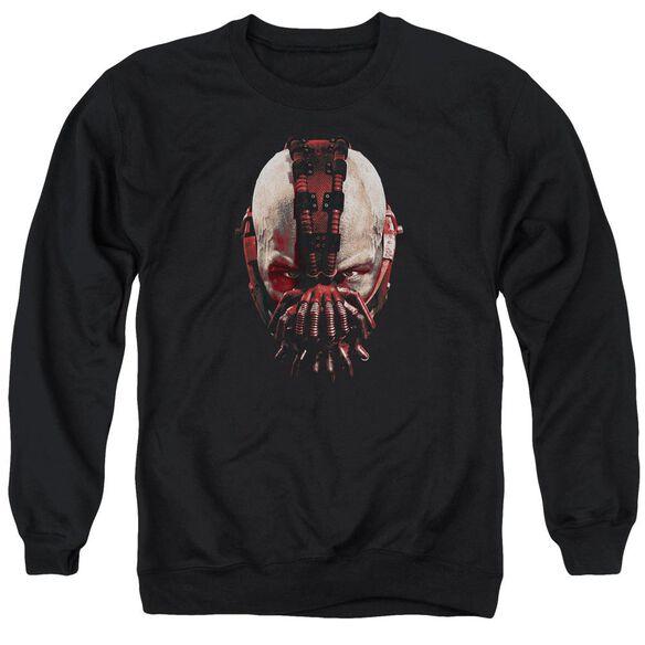 Dark Knight Rises Bane Mask Adult Crewneck Sweatshirt