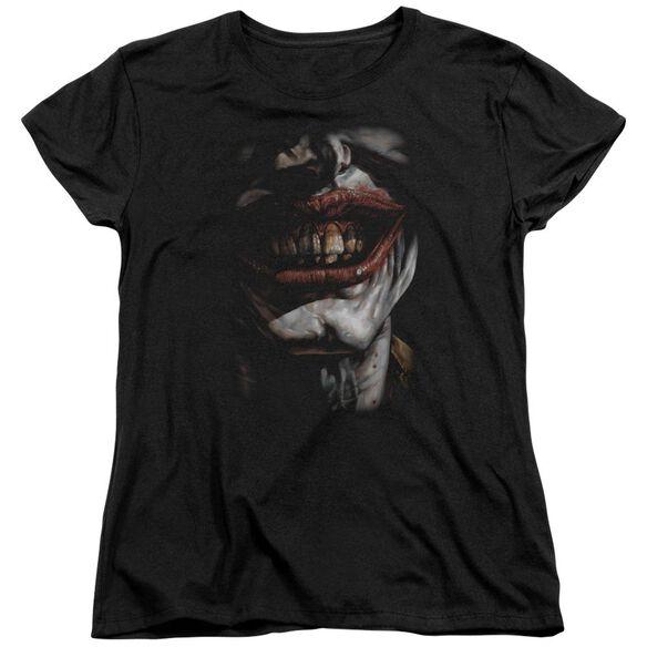 Batman Smile Of Evil Short Sleeve Womens Tee T-Shirt