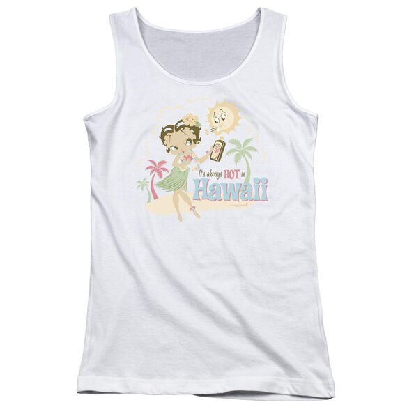 Betty Boop Hot In Hawaii Juniors Tank Top