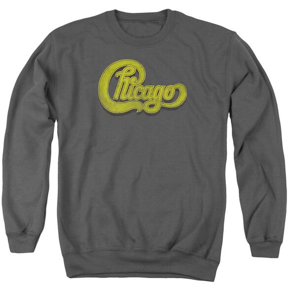 Chicago Distressed Adult Crewneck Sweatshirt