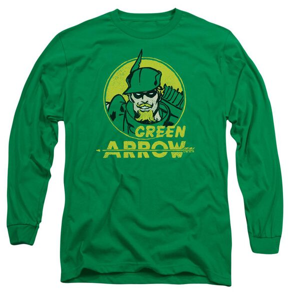 Dc Archer Circle Long Sleeve Adult Kelly T-Shirt