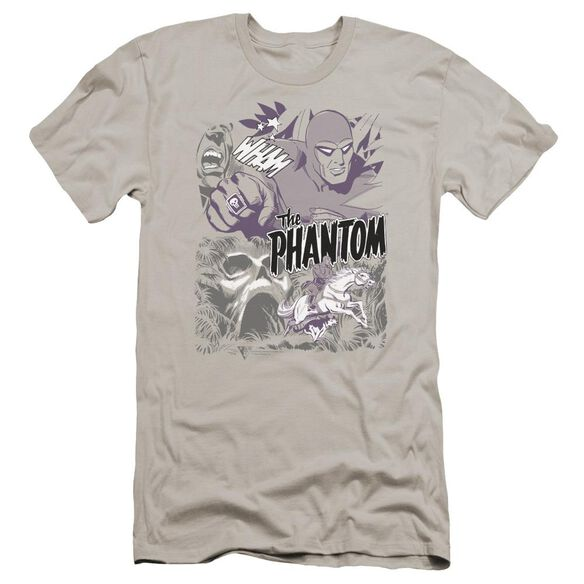 Phantom Ghostly Collage Premuim Canvas Adult Slim Fit