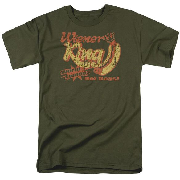 Wiener King Short Sleeve Adult Military Green T-Shirt