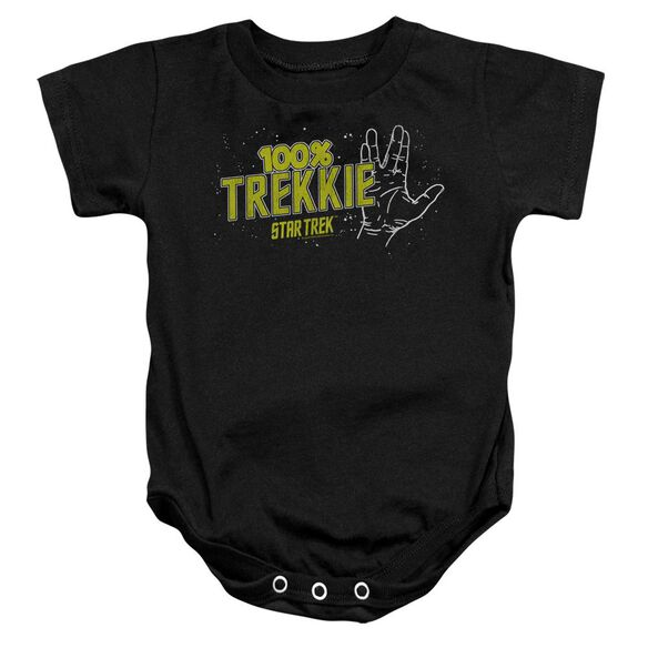 Star Trek Trekkie Infant Snapsuit Black Lg