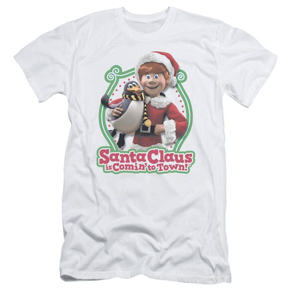 Santa Claus Is Comin To Town Penguin Short Sleeve Adult T-Shirt