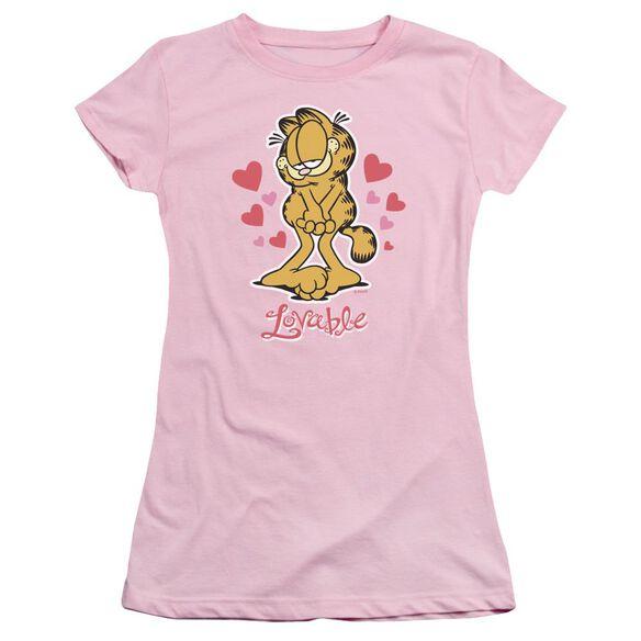 Garfield Lovable Short Sleeve Junior Sheer T-Shirt
