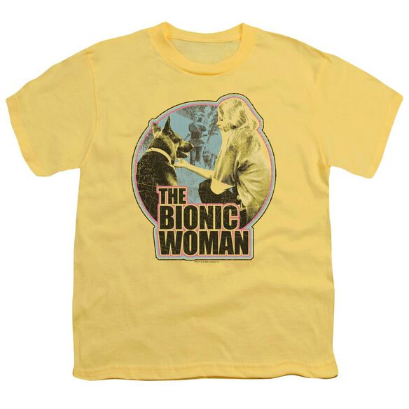 Bionic Woman Jamie And Max Short Sleeve Youth T-Shirt