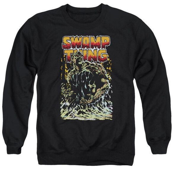 Jla Swamp Thing Adult Crewneck Sweatshirt