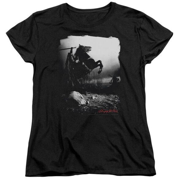 Sleepy Hollow Foggy Night Short Sleeve Womens Tee T-Shirt