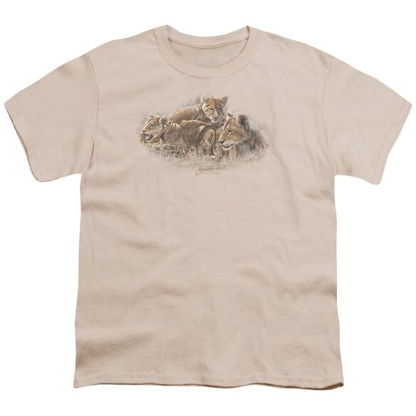 Wildlife Lion Cubs Short Sleeve Youth T-Shirt