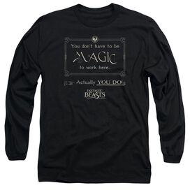 Fantastic Beasts Magic To Work Here Long Sleeve Adult T-Shirt