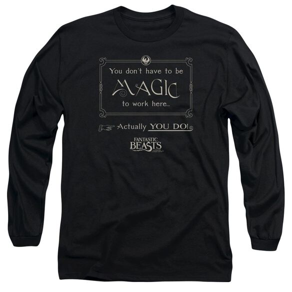 Fantastic Beasts Magic To Work Here Long Sleeve Adult T-Shirt