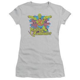 Dc Manhunter Stars Short Sleeve Junior Sheer T-Shirt