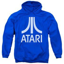 Atari Atari Logo Adult Pull Over Hoodie Royal
