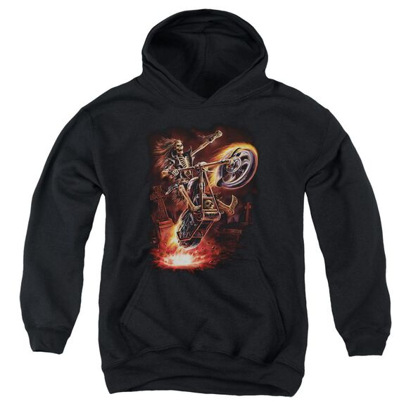 Anne Stokes Hellrider Youth Pull Over Hoodie