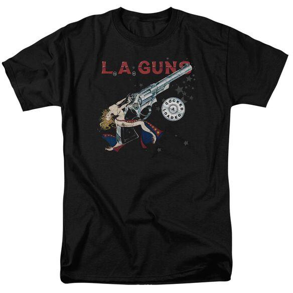 La Guns Cocked And Loaded Short Sleeve Adult T-Shirt