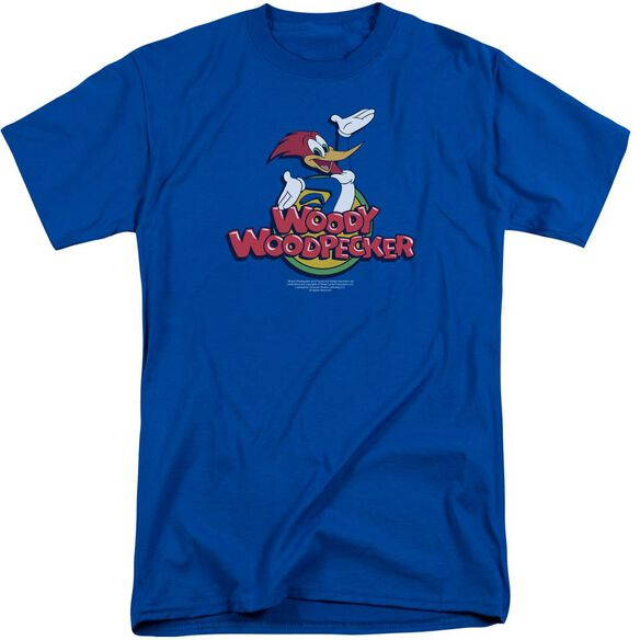 Woody Woodpecker Woody Short Sleeve Adult Tall Royal T-Shirt