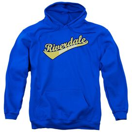 Archie Comics Riverdale High School Adult Pull Over Hoodie Royal