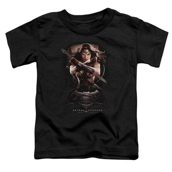 Batman V Superman Ww Ground Zero Short Sleeve Toddler Tee Black T-Shirt