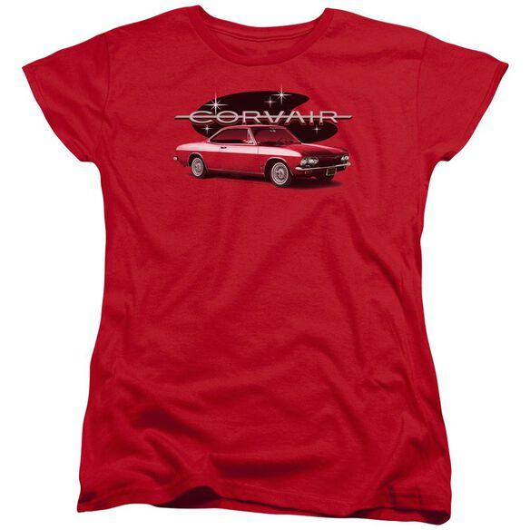Chevrolet 65 Corvair Mona Spyda Coupe Short Sleeve Womens Tee T-Shirt