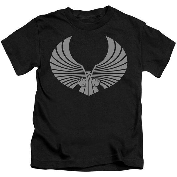 Star Trek Romulan Logo Short Sleeve Juvenile Black T-Shirt