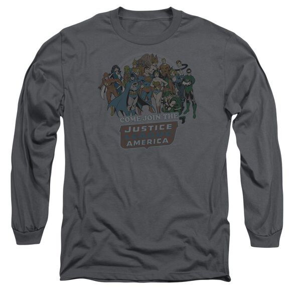 Dc Join The Justice League Long Sleeve Adult T-Shirt