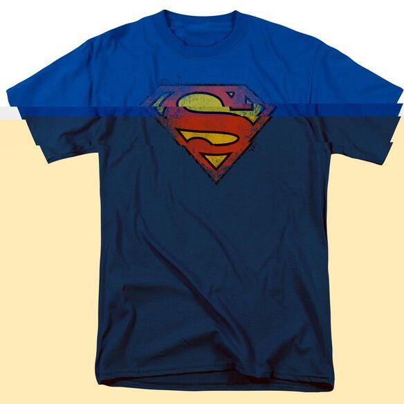 SUPERMAN DESTROYED SUPES LOGO-S/S T-Shirt