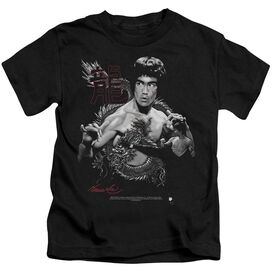 Bruce Lee The Dragon Short Sleeve Juvenile Black Md T-Shirt