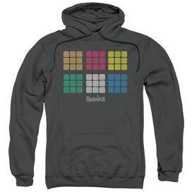 Rubik's Cube Minimal Squares Adult Pull Over Hoodie