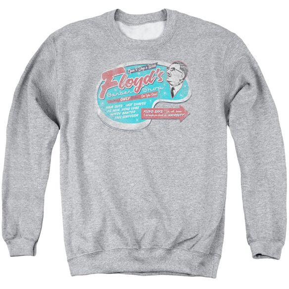 Mayberry Floyds Barber Shop - Adult Crewneck Sweatshirt - Athletic Heather