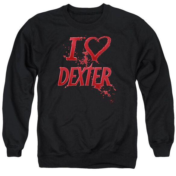 Dexter I Heart Dexter Adult Crewneck Sweatshirt