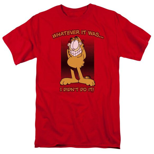 GARFIELD I DIDNT DO IT - S/S ADULT 18/1 - RED T-Shirt