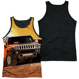 Hummer Sunset Ride Adult Poly Tank Top Black Back