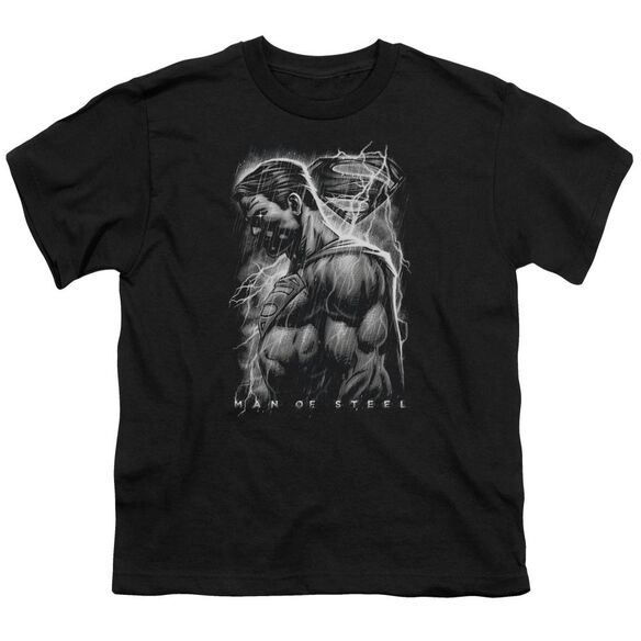 Man Of Steel Steel Rain Short Sleeve Youth T-Shirt