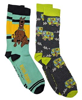 Scooby Doo Ruh-Roh Mystery Van Men's Crew Socks 2-Pack