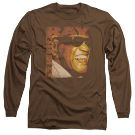 Ray Charles Singing Distressed Long Sleeve Adult T-Shirt
