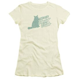 Tender Vittles Hands Off Short Sleeve Junior Sheer T-Shirt