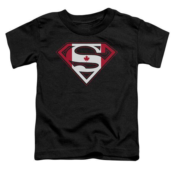 Superman Canadian Shield Short Sleeve Toddler Tee Black Md T-Shirt