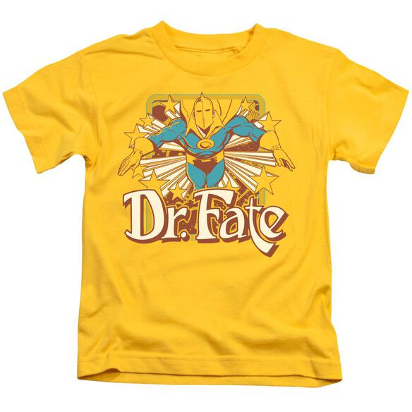 Dc Dr Fate Stars Short Sleeve Juvenile Yellow T-Shirt