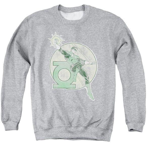 Dco Retro Lantern Iron On Adult Crewneck Sweatshirt Athletic