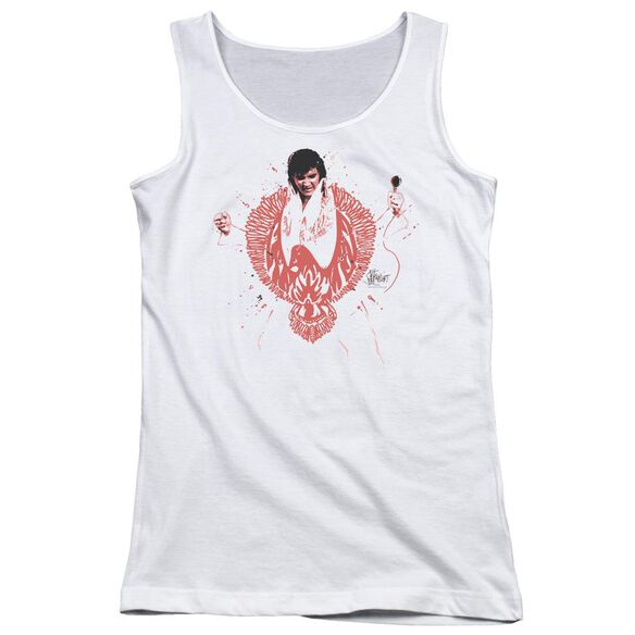 Elvis Presley Red Pheonix Juniors Tank Top